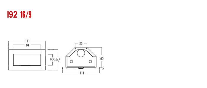inserto camino in acciaio corten - modello MAC