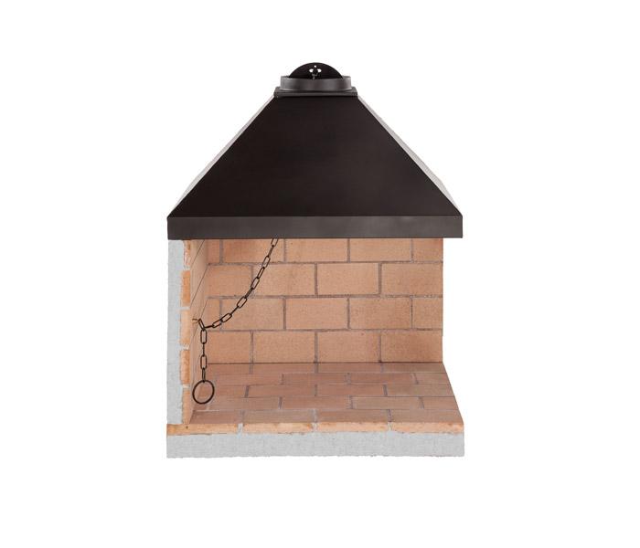 Caminetto prefabbricato in mattoni refrattari ad angolo for Cucinare a 70 gradi