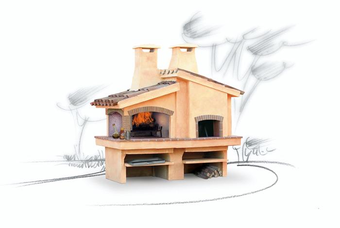 Forno grill in refrattario forno grill modello eden il - Forno barbecue muratura esterno ...