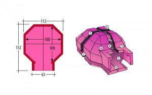 forno classico prefabbricato in cemento - schema