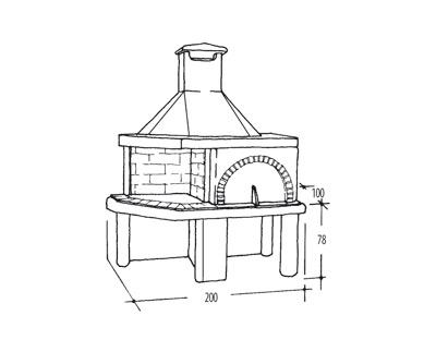 Forno grill forno grill nuraghe il focolare la nuova for Termocamini vulcano rivenditori