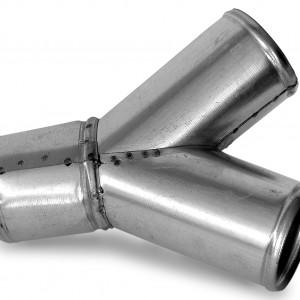 RACCORDO A Y per tubi in alluminio Ø 80/120.