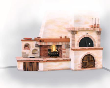 Camino forno camino ad angolo rivestimento camino in - Camino con forno ...