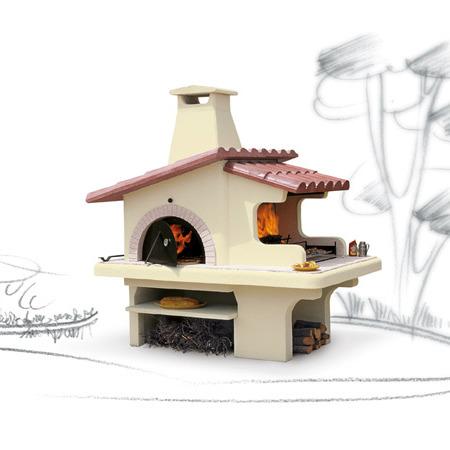Forno grill in muratura doppio forno il focolare la for Termocamini vulcano rivenditori