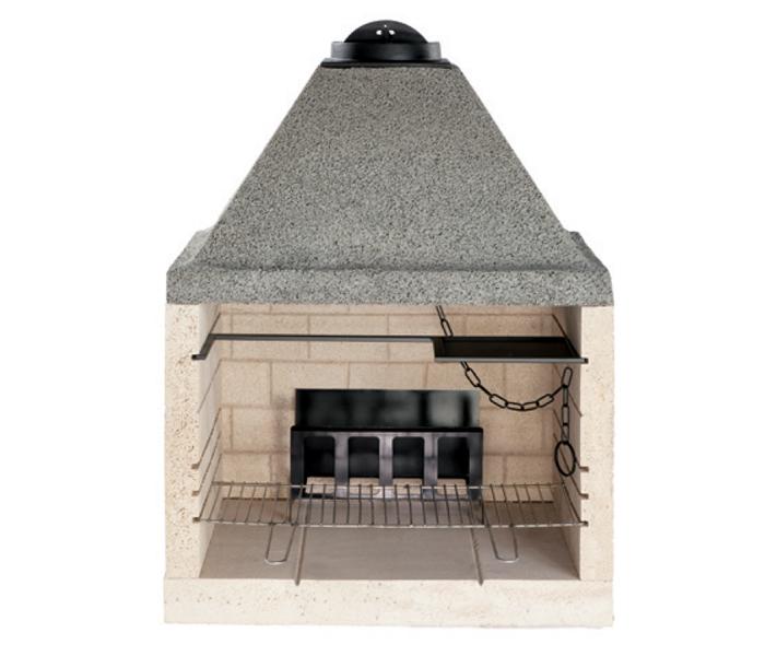 caminetto prefabbricato in pietra refrattaria