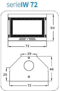 prospetto termocaldaia da inserimento modello IW 72