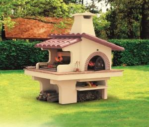 Barbecue grill in cemento da giardino