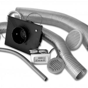 KIT DI VENTILAZIONE FORZATA opportuno per utilizzare al massimo le capacità termiche dei caminetti