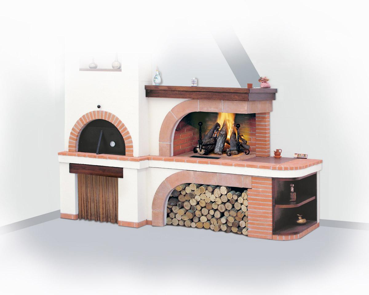 Forno A Legna Con Camino camino, camino a legna, camino forno | il focolare - la