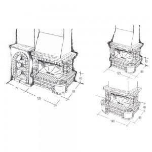 Rivestimento caminetto ad angolo o a parete Velletri